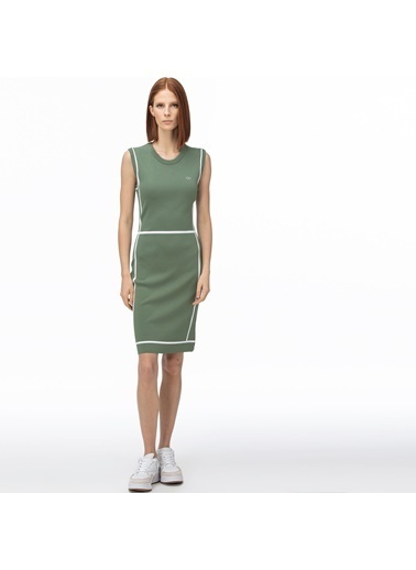 Lacoste Kadın V Yaka Elbise EF0060.60H Yeşil